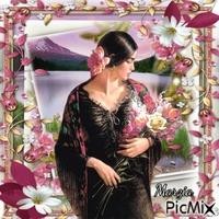 marzia - ragazza con fiori