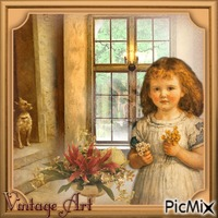 Vintage Art - Herbstblümchen für Dich