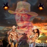 Cowboy in het donker