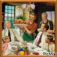 Repas en famille.