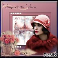 Paris dans un  style vintage