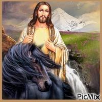 Cheval et Jésus.