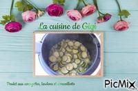 Poulet aux courgettes, lardons et cancoillotte