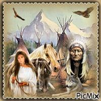 Lager der amerikanischen Ureinwohner