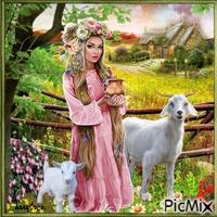 Martina et les chèvres