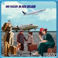 Wir fliegen in den Urlaub
