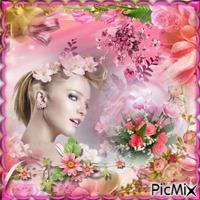 dame des fleurs