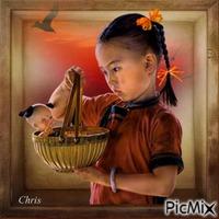 Kira et sa poupée
