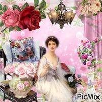 Vintage Pastel avec roses