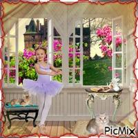 la petite danseuse et ses deux chats