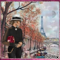 Sur les ponts de Paris.