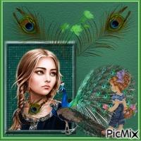 Mistress of the peacocks