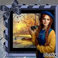 Margot observe la beauté de l'automne