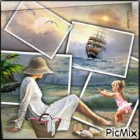 Collage vue sur mer