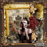 Picture in vintage style