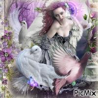 gift for sijna het duivenvrouwtje