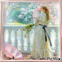 Jeanne sur la terrasse