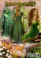 femme fantaisie forêt