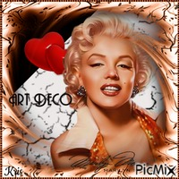 Art déco avec Marilyn Monroe
