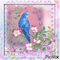 Post card with bird