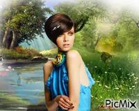 Mini jeux: Combien de fois la jeune femme apparaît elle dans l'image?