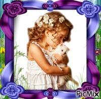 portrait fille avec un chat