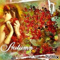 portrait de femme automne