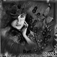 Portrait of a women in black