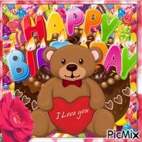 Alles Gute zum Geburtstag mit Teddybär