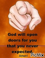 God will open a door for you