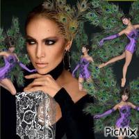 Fille paon (Jennifer Lopez)