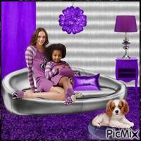 tout en violet