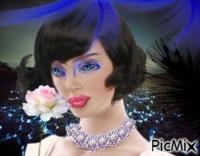 Femme à la rose blanche