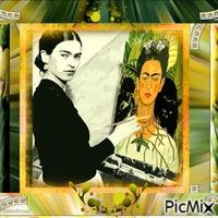 Frida Kahlo malt sich selbst