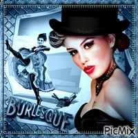 Burlesque in Blautöne