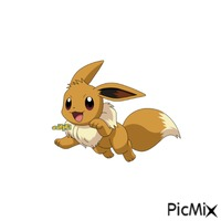 Eevee on a white background