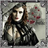 femme gothique.