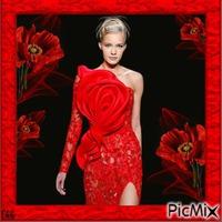 Miss Red dress