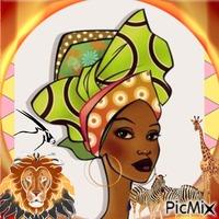 Volto di Donna afro disegno