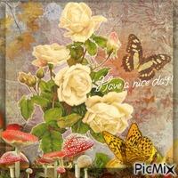 Die letzten Rosen und die letzten Schmetterlinge