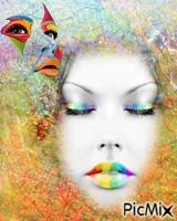 visages multicolor