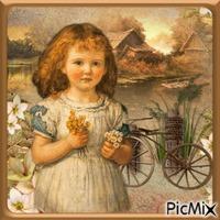 Die kleine Blumenpflückerin ...