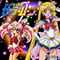 Sailor Moon and Sailor Chibi