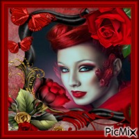 Roses rouges.