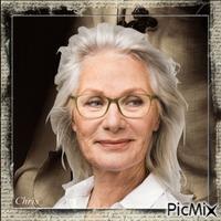 Portrait d'une dame agée