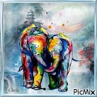 Création multicolores
