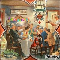 Repas de Noël vintage