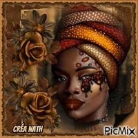 Portrait d'une belle africaine