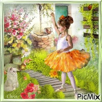 La petite ballerine dans le jardin