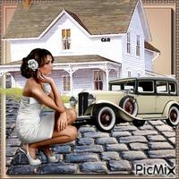 la femme et sa maison